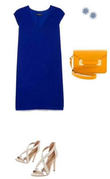 синий и оранжевый в образе