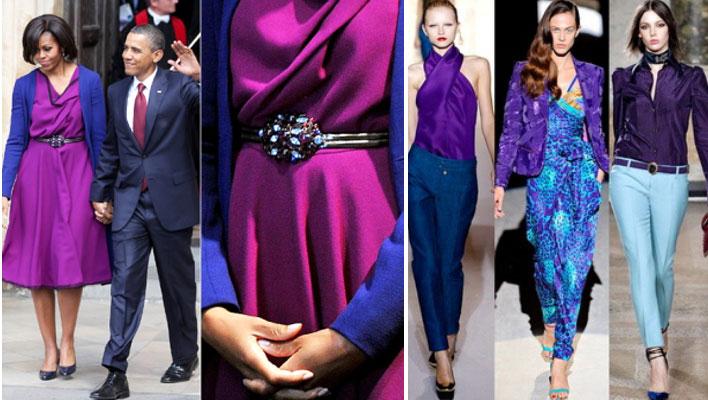 синий с фиолетовым