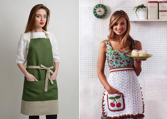 Модная кухня одежда