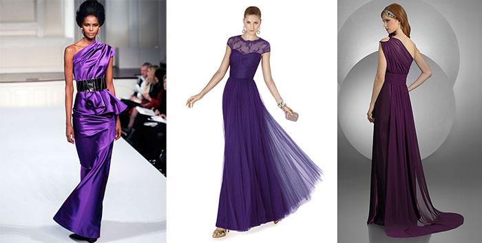 фиолетовые вечерние платья