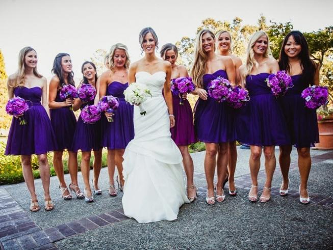 подружки невесты в фиолетовом