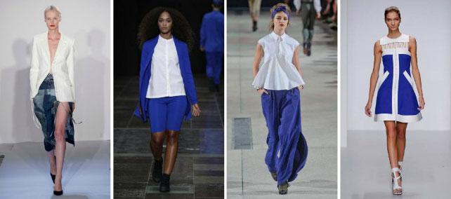 синий с белым в одежде